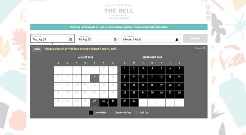 The Bell Hotel UI